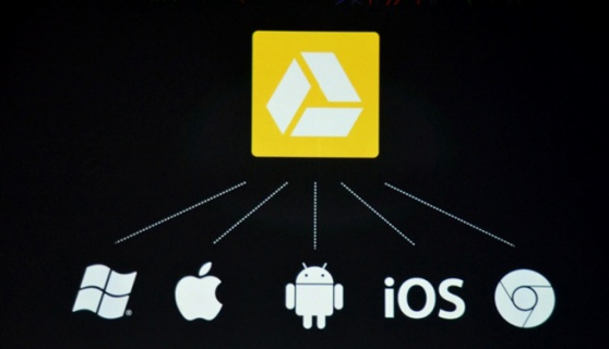 how to save files google drive oh iphone