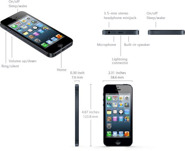 how tall is a iphone 5s apple s iphone 5 specifications iosorchard 18528