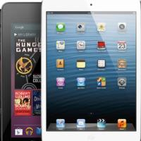 Comparison iPad 4 vs. Kindle Fire 8 HD vs. Nexus 7 vs. Surface RT vs. PlayBook